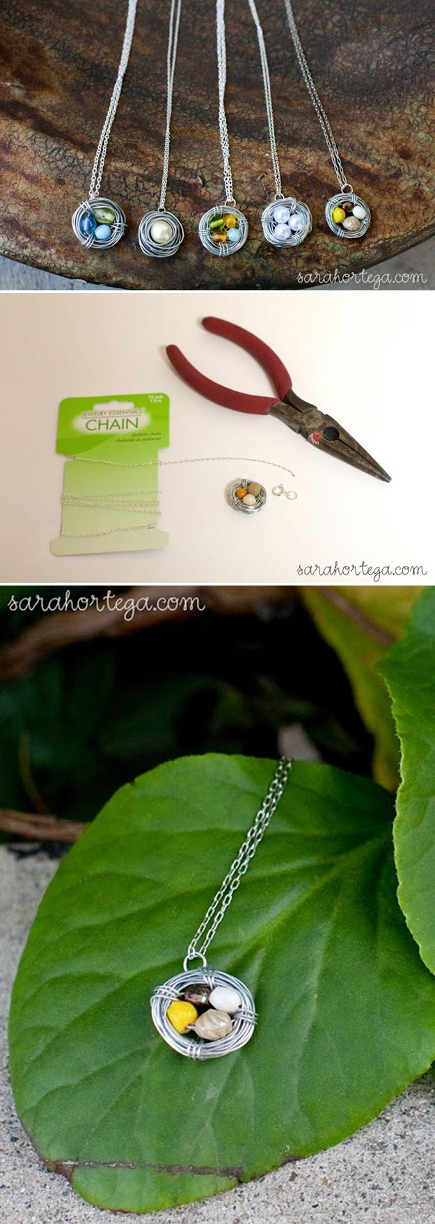 Cheap Crafts - DIY Bird Nest Necklace - Inexpensive Craft Project Ideas for Teenagers, Teens and Adults - Easy DIY Ideas To Make On A Budget - Cool Dollar Store Crafts and Things You Can Make For Free - Homemade Wall Art and Room Decor, Gifts and Presents, Tutorials and Step by Step Instructions http://teencrafts.com/cheap-diy-crafts