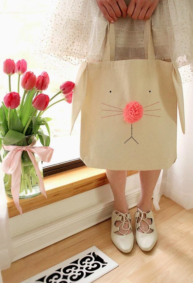 Cheap Crafts - DIY Bunny Tote Bag Tutorial - Cute DIY Tote Bag Ideas - Inexpensive Craft Project Ideas for Teenagers, Teens and Adults - Easy DIY Ideas To Make On A Budget - Cool Dollar Store Crafts and Things You Can Make For Free - Homemade Wall Art and Room Decor, Gifts and Presents, Tutorials and Step by Step Instructions #teencrafts #cheapcrafts #diyideas