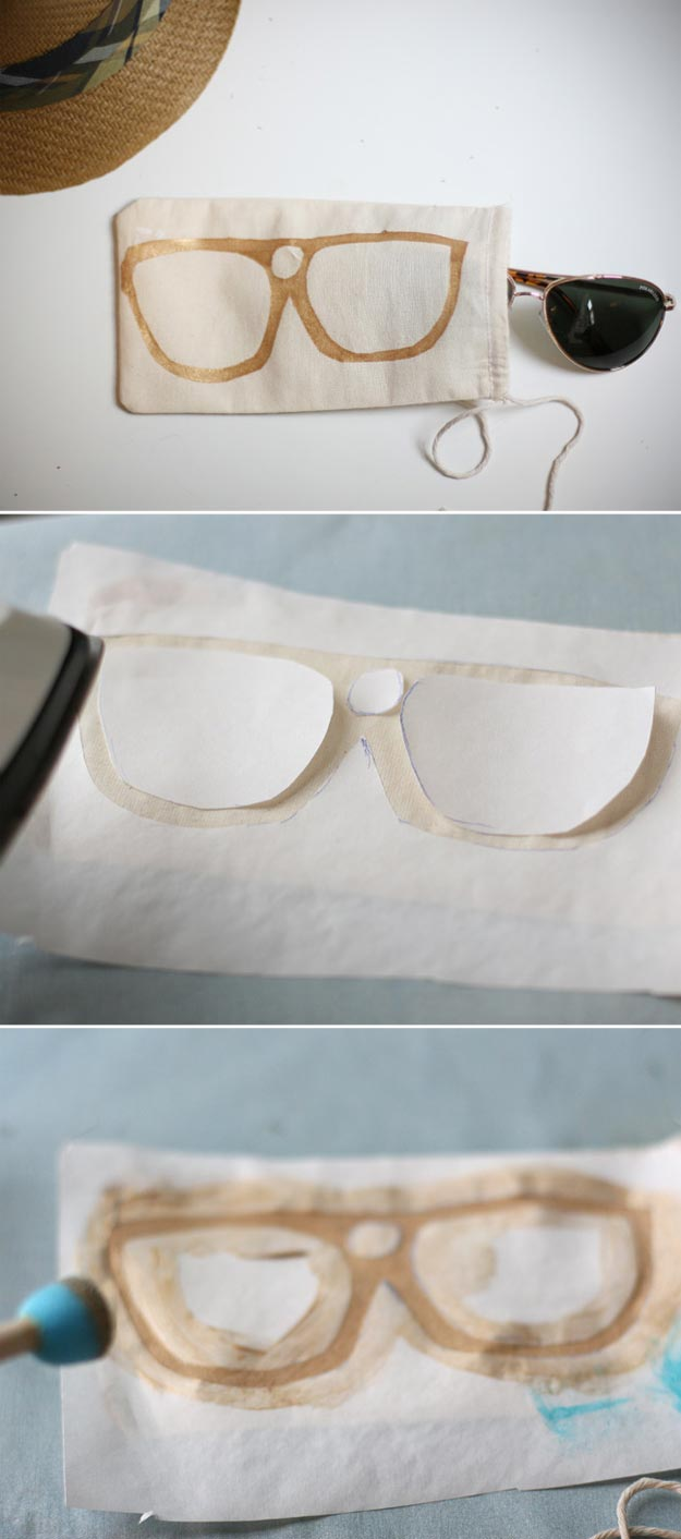 Cheap Crafts - DIY Father's Day: Sunglass Bag - Inexpensive Craft Project Ideas for Teenagers, Teens and Adults - Easy DIY Ideas To Make On A Budget - Cool Dollar Store Crafts and Things You Can Make For Free - Homemade Wall Art and Room Decor, Gifts and Presents, Tutorials and Step by Step Instructions http://teencrafts.com/cheap-diy-crafts