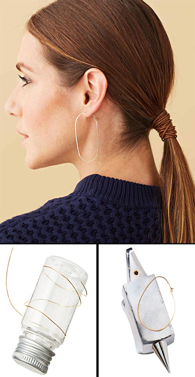 Cheap Crafts - Hoop Earrings - Inexpensive Craft Project Ideas for Teenagers, Teens and Adults - Easy DIY Ideas To Make On A Budget - Cool Dollar Store Crafts and Things You Can Make For Free - Homemade Wall Art and Room Decor, Gifts and Presents, Tutorials and Step by Step Instructions http://teencrafts.com/cheap-diy-crafts
