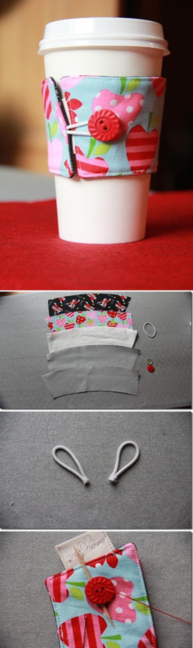 Cheap Crafts - Reversible Coffee Cup Sleeves - Inexpensive Craft Project Ideas for Teenagers, Teens and Adults - Easy DIY Ideas To Make On A Budget - Cool Dollar Store Crafts and Things You Can Make For Free - Homemade Wall Art and Room Decor, Gifts and Presents, Tutorials and Step by Step Instructions http://teencrafts.com/cheap-diy-crafts
