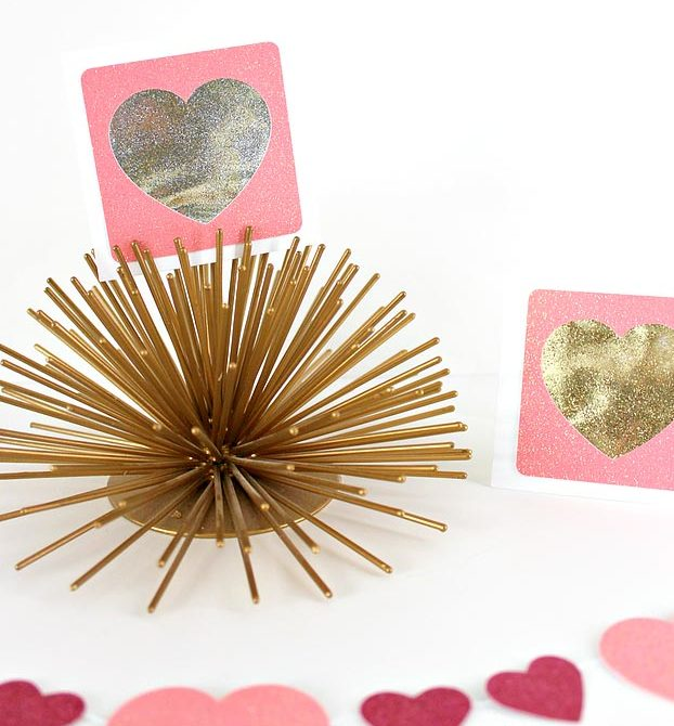 Cheap Crafts - DIY Shaker Glitter Heart Cards Tutorial - Inexpensive Craft Project Ideas for Teenagers, Teens and Adults - Easy DIY Ideas To Make On A Budget - Cool Dollar Store Crafts and Things You Can Make For Free - Homemade Wall Art and Room Decor, Gifts and Presents, Tutorials and Step by Step Instructions #teencrafts #cheapcrafts #diyideas