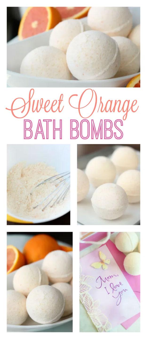 Easy DIY Bath Bomb Recipes - Homemade Bath Bombs - DIY Sweet Orange Bath Bomb Recipe - Cool Bath Bomb Recipe Ideas - How to Make Bath Fizzies - How to Make a Bath Bomb at Home #lush #crafts #bathbomb