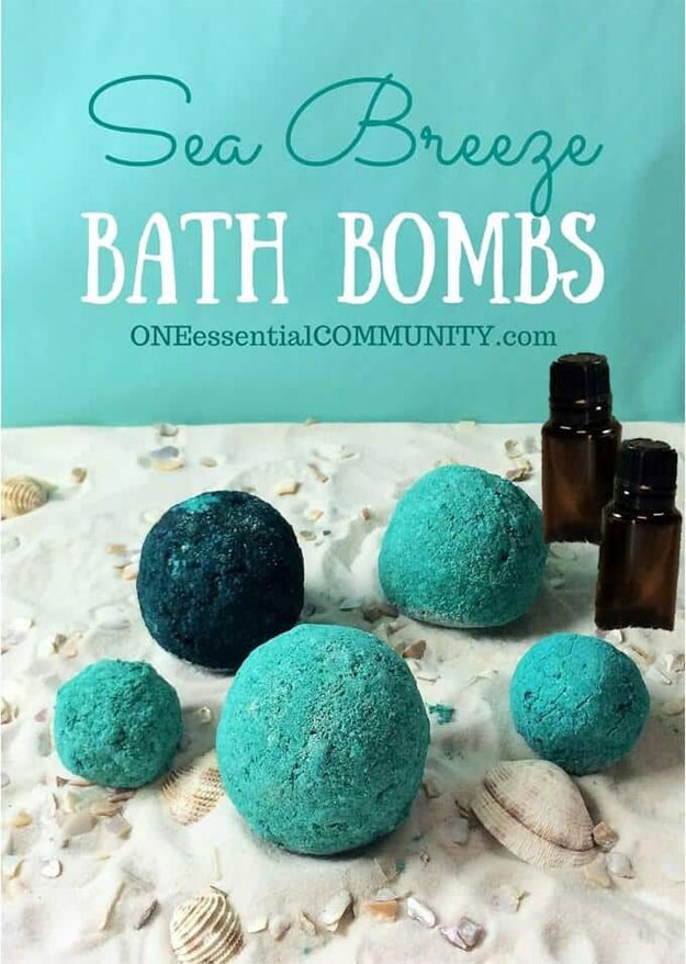DIY Bath Bombs - DIY Sea Breeze Bath Bomb Recipe - Easy Bath Bomb Recipes and Tutorials - Cool Teen and Adult Crafts - Spa Day Ideas - Lush DIY Copycat Dupes - Crafts for Kids, Teens, and Adults #teencrafts #diyideas #diybathbombs