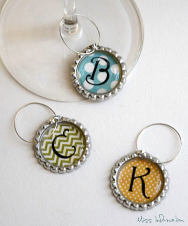 Crafts To Make and Sell For Teens - DIY Bottle Cap Wine Charm Tutorial - How to Make Wine Charms - Cute DIY Wine Charms - Easy Craft Project Ideas To Make for Selling On Etsy and Online - Cool Ideas and DIY Ideas You Can Sell On Etsy - Fun and Cheap Do It Yourself Projects for Teenagers to Make Extra Money This Summer #teencrafts #craftstomakeandsell #diyideas