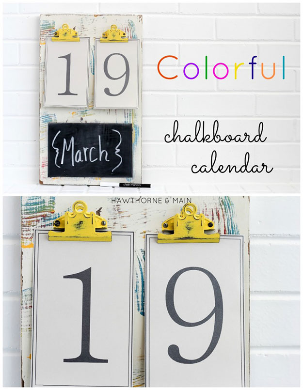 Crafts To Make and Sell For Teens - Colorful Chalkboard Calendar - Easy Craft Project Ideas To Make for Selling On Etsy and Online - Cool Ideas and DIY Ideas You Can Sell At Craft Fairs and on Ebay - Fun and Cheap Do It Yourself Projects for Teenagers to Make Extra Money This Summer http://teencrafts.com/crafts-to-make-and-sell-teens