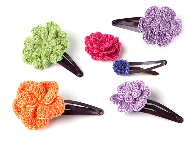 Crafts To Make and Sell For Teens - DIY Crochet Hair Clip Tutorial - How to Crochet a Hair Clip - Easy Craft Project Ideas To Make for Selling On Etsy and Online - Cool Ideas and DIY Ideas You Can Sell On Etsy - Fun and Cheap Do It Yourself Projects for Teenagers to Make Extra Money This Summer #teencrafts #craftstomakeandsell #diyideas