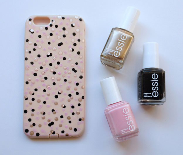 Crafts To Make and Sell For Teens - DIY Confetti Dot Phone Case Tutorial - DIY Nail Polish Phone Case - Easy Craft Project Ideas To Make for Selling On Etsy and Online - Cool Ideas and DIY Ideas You Can Sell On Etsy - Fun and Cheap Do It Yourself Projects for Teenagers to Make Extra Money This Summer #teencrafts #craftstomakeandsell #diyideas
