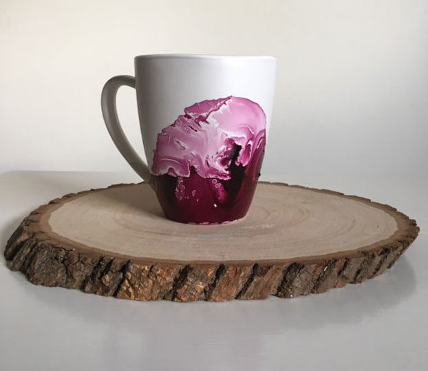 Crafts To Make and Sell For Teens - DIY Nail Polish Marble Mug Tutorial - How to Make A Marble Mug With Nail Polish - Easy Craft Project Ideas To Make for Selling On Etsy and Online - Cool Ideas and DIY Ideas You Can Sell On Etsy - Fun and Cheap Do It Yourself Projects for Teenagers to Make Extra Money This Summer #teencrafts #craftstomakeandsell #diyideas