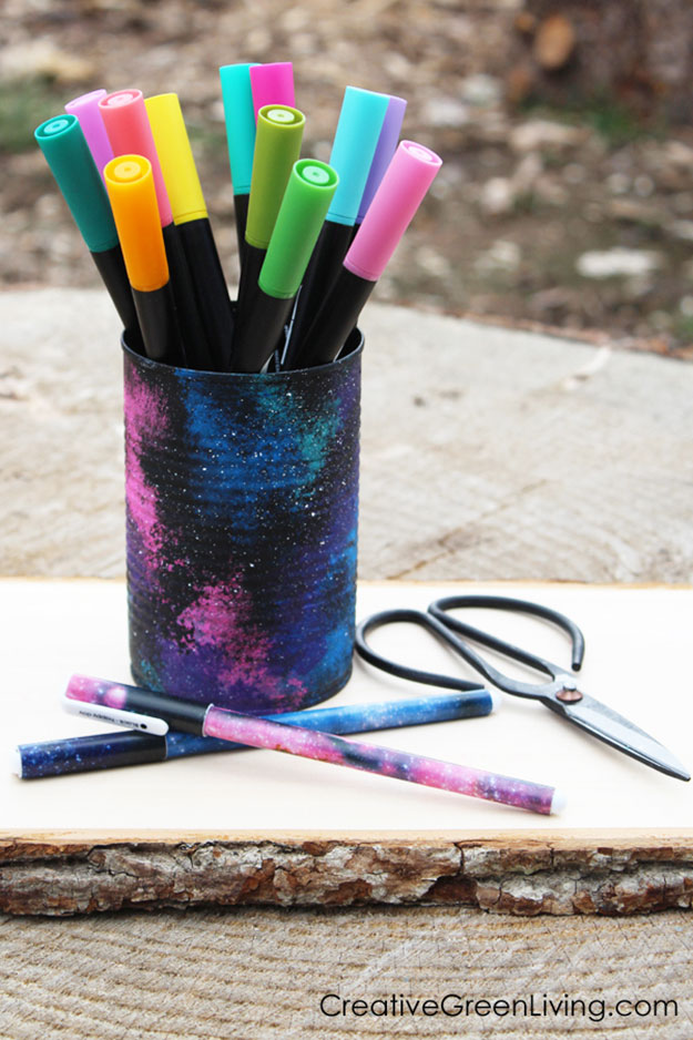 Crafts To Make and Sell For Teens - DIY Recycled Can Pencil Holder Tutorial - Easy Craft Project Ideas To Make for Selling On Etsy and Online - Cool Ideas and DIY Ideas You Can Sell On Etsy - Fun and Cheap Do It Yourself Projects for Teenagers to Make Extra Money This Summer #teencrafts #craftstomakeandsell #diyideas