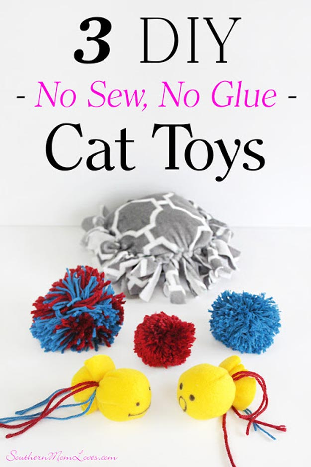 DIY Ideas for Your Cat - Treat Your Kitty with 3 Puurfect DIY No Sew, No Glue Cat Toys - Cool and Easy Homemade Stuff To Make For Cats and Kittens - Cardboard Furniture, DIY Cat Scratching Post and Lounging Tree - Litter Box, Pet Bes, Craft Projects, Toys and Hacks for Creavite Things to Make - Food and Treat Recipes http://teencrafts.com/diy-ideas-cat