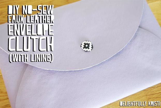 DIY Leather Crafts - How to Make a Leather Envelope Clutch - Crossbody Bag, Wallet, Earrings and Jewelry Making, Projects from Scrap and Faux Leathers - Tutorials for Beginners and for Kids - Western Wear and Fashion, tips for Tools and Free Patterns - Cheap Clothing for Teens to Make - #teencrafts #leathercrafts #diyideas