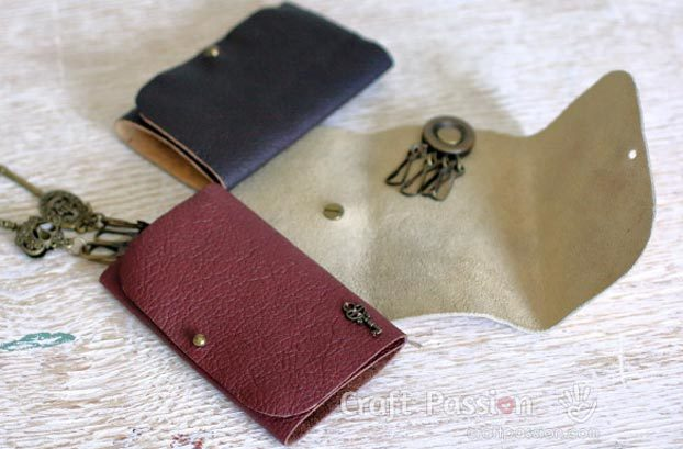 DIY Leather Crafts - How to Make a Leather Key Pouch - Crossbody Bag, Wallet, Earrings and Jewelry Making, Projects from Scrap and Faux Leathers - Tutorials for Beginners and for Kids - Western Wear and Fashion, tips for Tools and Free Patterns - Cheap Clothing for Teens to Make - #teencrafts #leathercrafts #diyideas