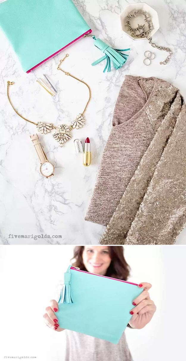 DIY Leather Crafts - No Sew Emergency Kit - Crossbody Bag, Wallet, Earrings and Jewelry Making, Projects from Scrap and Faux Leathers - Tutorials for Beginners and for Kids - Western Wear and Fashion, tips for Tools and Free Patterns - Cheap Clothing for Teens to Make http://teencrafts.com/diy-ideas-leather-crafts