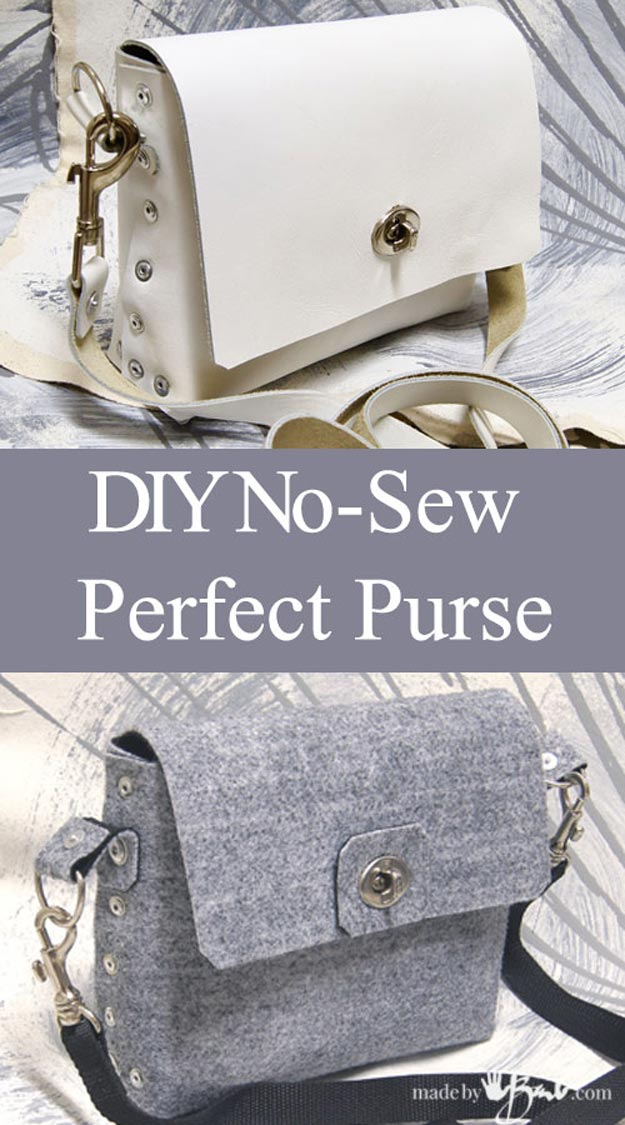 DIY Leather Crafts - Perfect Little Purse - Crossbody Bag, Wallet, Earrings and Jewelry Making, Projects from Scrap and Faux Leathers - Tutorials for Beginners and for Kids - Western Wear and Fashion, tips for Tools and Free Patterns - Cheap Clothing for Teens to Make http://teencrafts.com/diy-ideas-leather-crafts