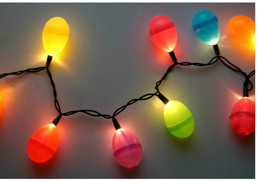 DIY Ideas With String Lights - DIY Easter Egg String Lights Tutorial - Fun String Light Ideas - Easy, Fun, Cool Decor To Make With String Lights - Cheap Room Decor Ideas for Teens, Fun Apartment Lighting Projects and Creative Ways to Decorate Your Bedroom - How To Decorate Teens and Teenagers Bedrooms #teencrafts #diyideas #stringlights