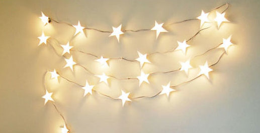 DIY Ideas With String Lights - DIY Star String Lights Tutorial - How to Make String a Light Garland - Fun String Light Ideas - Easy, Fun, Cool Decor To Make With String Lights - Cheap Room Decor Ideas for Teens, Fun Apartment Lighting Projects and Creative Ways to Decorate Your Bedroom - How To Decorate Teens and Teenagers Bedrooms #teencrafts #diyideas #stringlights