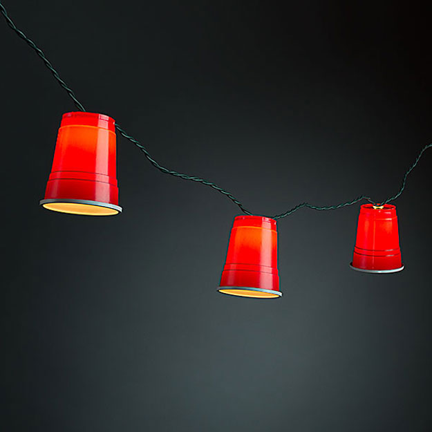 DIY Ideas With String Lights - DIY Solo Cup String Lights Tutorial - Fun String Light Ideas - Easy, Fun, Cool Decor To Make With String Lights - Cheap Room Decor Ideas for Teens, Fun Apartment Lighting Projects and Creative Ways to Decorate Your Bedroom - How To Decorate Teens and Teenagers Bedrooms #teencrafts #diyideas #stringlights
