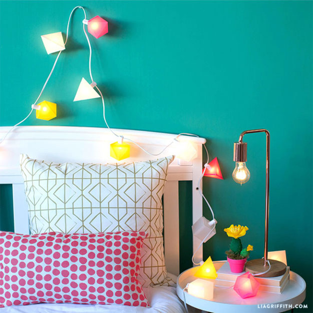 DIY Ideas With String Lights - DIY Summer String Lights Tutorial - Fun String Light Ideas - Easy, Fun, Cool Decor To Make With String Lights - Cheap Room Decor Ideas for Teens, Fun Apartment Lighting Projects and Creative Ways to Decorate Your Bedroom - How To Decorate Teens and Teenagers Bedrooms #teencrafts #diyideas #stringlights