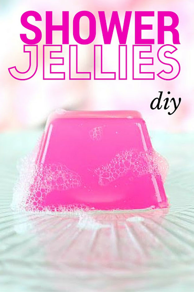 Lush Copycat Recipes - How to Make Lush Shower Jellies - DIY Shower Jellies Recipe - DIY Lush Inspired Copycats and Dupes - How to Make Do It Yourself Lush Products like Homemade Bath Bombs, Face Masks, Lip Scrub, Bubble Bars, Dry Shampoo and Hair Conditioner, Shower Jelly, Lotion, Soap, Toner and Moisturizer. Tutorials Inspired by Ocean Salt, Buffy, Dark Angels, Rub Rub Rub, Big, Dream Cream and More - Teens and Teenager Crafts #teencrafts #lush #diyideas