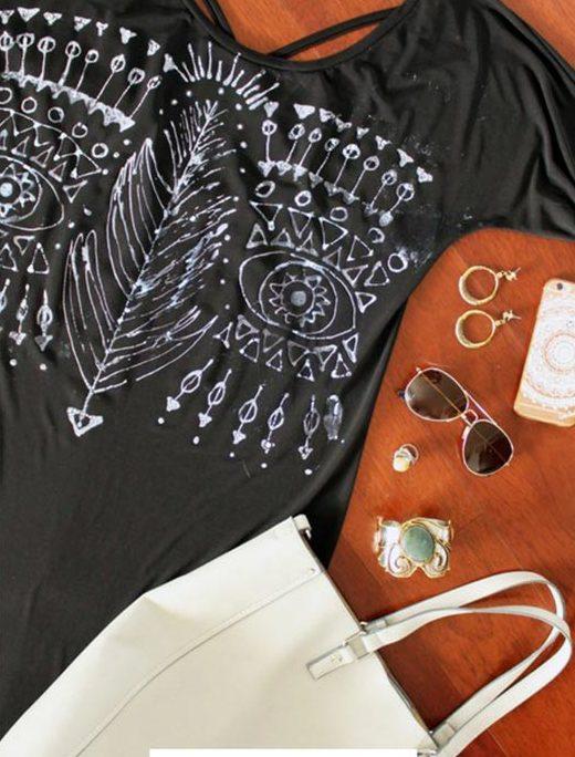 DIY Boho Fashion Ideas - DIY Bleach Pen Boho Dress Tutorial - How to Make A Boho Dress - How to Make Your Own Boho Clothes, Sandals, Jewelry At Home - Boho Fashion Style - Cute and Easy DIY Boho Clothing, Clothes, Fashion - Homemade Bohemian Clothing #teencrafts #diyideas #diybohofashion #diybohoclothes