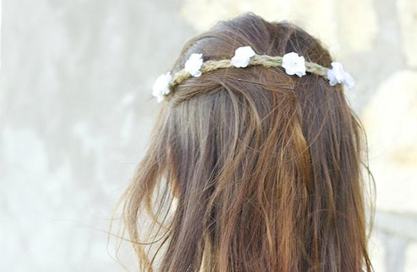 DIY Boho Fashion Ideas - DIY Boho Flower Crown Tutorial - How to Make A Boho Flower Crown - How to Make Your Own Boho Clothes, Sandals, Jewelry At Home - Boho Fashion Style - Cute and Easy DIY Boho Clothing, Clothes, Fashion - Homemade Bohemian Clothing #teencrafts #diyideas #diybohofashion #diybohoclothes