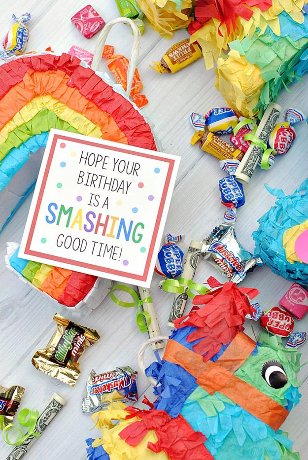 Cheap DIY Gifts to Make For Friends - DIY Mini Pinata Gift Idea - BFF Gift Ideas for Birthday, Christmas - Last Minute Gifts for Friends - Cool Crafts For Teens and Girls #teencrafts #diyideas #giftideas