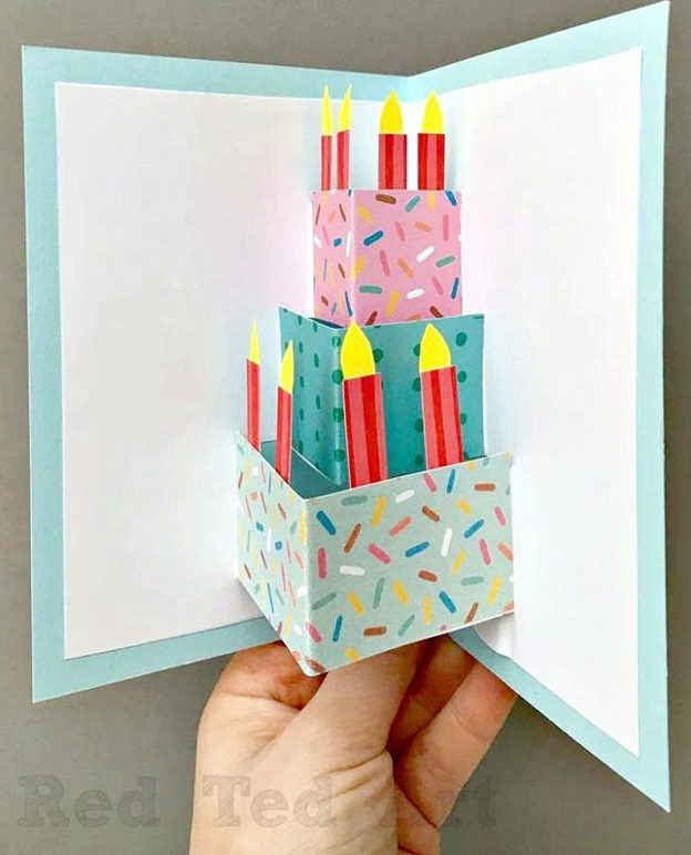 Cheap DIY Gifts to Make For Friends - How to Make A Pop Up Birthday Card - Pop Up Birthday Cake Card Tutorial - BFF Gift Ideas for Birthday, Christmas - Last Minute Gifts for Friends - Cool Crafts For Teens and Girls #teencrafts #diyideas #giftideas
