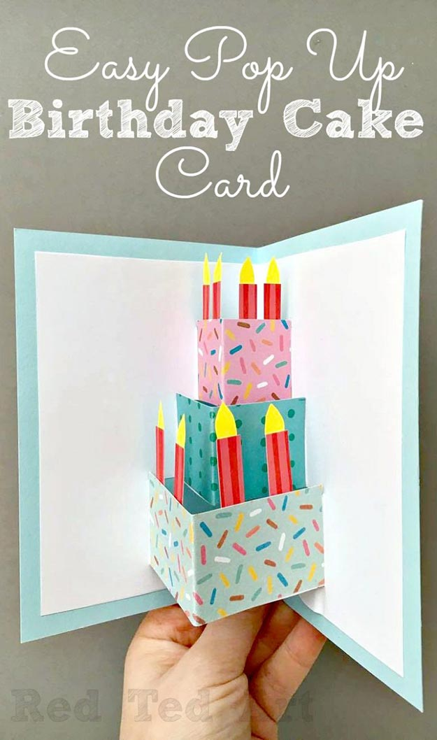 Cheap DIY Gifts to Make For Friends | DIY Pop Up Birthday Cake Card | BFF Gift Ideas for Birthday, Christmas | Cool Crafts For Teens and Girls