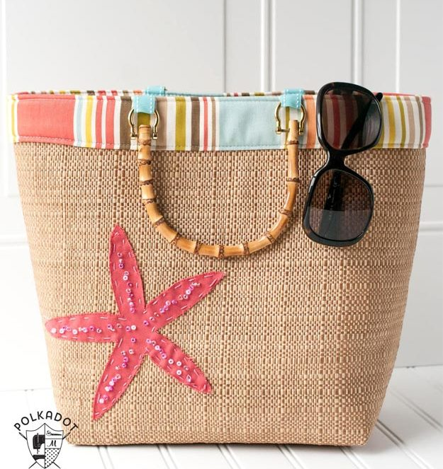 DIY Ideas for Summer - DIY Beach Tote Tutorial - How to Make A Beach Tote - Cute Summery Crafts to Make and Sell - DIY Summer Crafts, Projects, Decor for Kids, Tweens, Teens, Adults, Seniors - Ideas to Make for Lake, Pool, Outdoors - Creative Things to Make for Summertime - Teen Crafts and DIY Projects #teencrafts #diyideas #craftideasforsummer