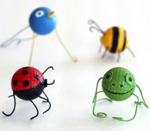 DIY Ideas for Summer - DIY Golf Ball Garden Buggies Tutorial - DIY Garden Decor - Cute Summery Crafts to Make and Sell - DIY Summer Crafts, Projects, Decor for Kids, Tweens, Teens, Adults, Seniors - Ideas to Make for Lake, Pool, Outdoors - Creative Things to Make for Summertime - Teen Crafts and DIY Projects #teencrafts #diyideas #craftideasforsummer