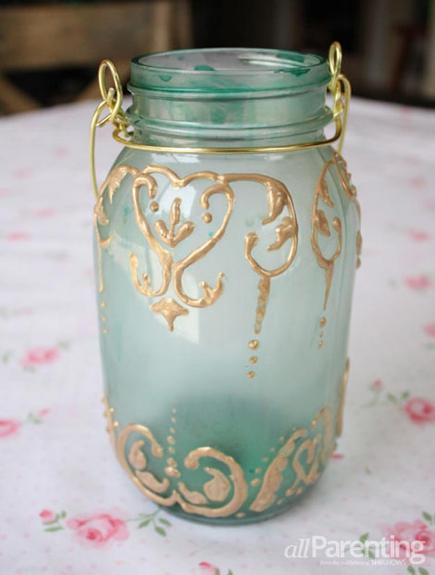 DIY Ideas for Summer - DIY Mason Jar Lanterns Tutorial - How to Make Mason Jar Lanterns - Cute Summery Crafts to Make and Sell - DIY Summer Crafts, Projects, Decor for Kids, Tweens, Teens, Adults, Seniors - Ideas to Make for Lake, Pool, Outdoors - Creative Things to Make for Summertime - Teen Crafts and DIY Projects #teencrafts #diyideas #craftideasforsummer