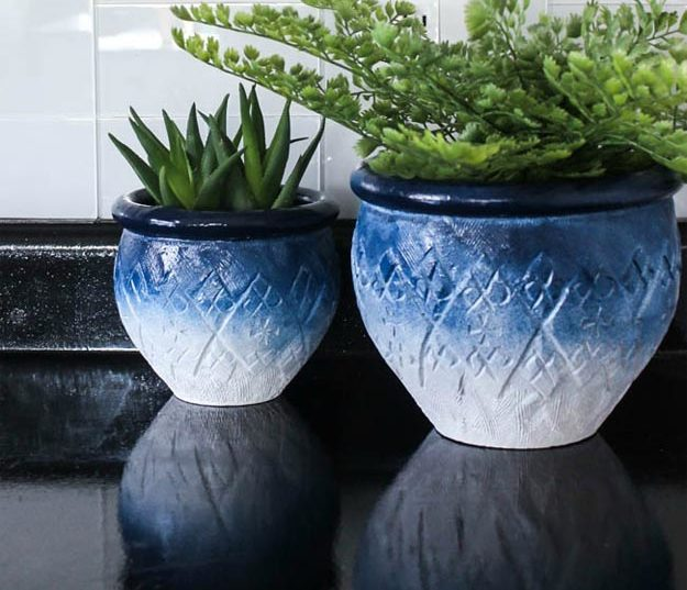DIY Ideas for Summer - DIY Ceramic Ombre Planters Tutorial - How to Make A Ceramic Planter - Cute Summery Crafts to Make and Sell - DIY Summer Crafts, Projects, Decor for Kids, Tweens, Teens, Adults, Seniors - Ideas to Make for Lake, Pool, Outdoors - Creative Things to Make for Summertime - Teen Crafts and DIY Projects #teencrafts #diyideas #craftideasforsummer