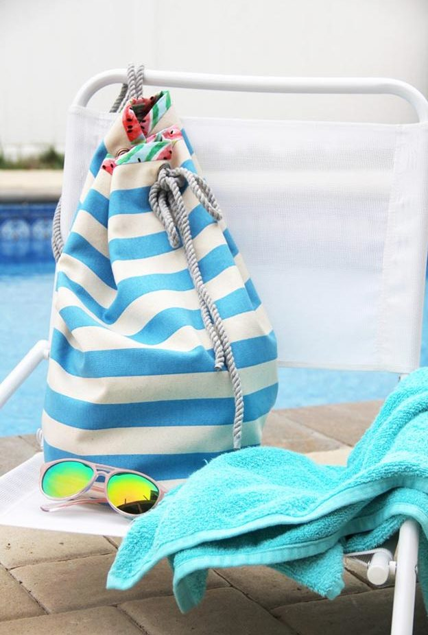 DIY Ideas for Summer - DIY Drawstring Bag Tutorial - How to Make A Drawstring Bag - Cute Summery Crafts to Make and Sell - DIY Summer Crafts, Projects, Decor for Kids, Tweens, Teens, Adults, Seniors - Ideas to Make for Lake, Pool, Outdoors - Creative Things to Make for Summertime - Teen Crafts and DIY Projects #teencrafts #diyideas #craftideasforsummer