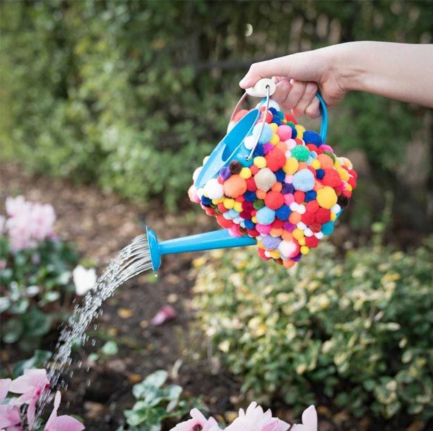 DIY Ideas for Summer - DIY Pom Pom Watering Can Tutorial - How to Decorate a Watering Can - Cute Summery Crafts to Make and Sell - DIY Summer Crafts, Projects, Decor for Kids, Tweens, Teens, Adults, Seniors - Ideas to Make for Lake, Pool, Outdoors - Creative Things to Make for Summertime - Teen Crafts and DIY Projects #teencrafts #diyideas #craftideasforsummer