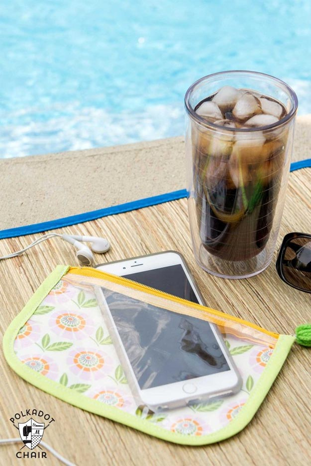 DIY Ideas for Summer - DIY Splash Proof Phone Case Tutorial - How to Make A Waterproof Phone Case - Cute Summery Crafts to Make and Sell - DIY Summer Crafts, Projects, Decor for Kids, Tweens, Teens, Adults, Seniors - Ideas to Make for Lake, Pool, Outdoors - Creative Things to Make for Summertime - Teen Crafts and DIY Projects #teencrafts #diyideas #craftideasforsummer