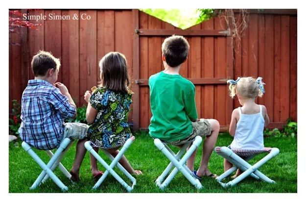 DIY Ideas for Summer - DIY Summer Camp Chairs Tutorial - How to Make PVC Pipe Chairs - Cute Summery Crafts to Make and Sell - DIY Summer Crafts, Projects, Decor for Kids, Tweens, Teens, Adults, Seniors - Ideas to Make for Lake, Pool, Outdoors - Creative Things to Make for Summertime - Teen Crafts and DIY Projects #teencrafts #diyideas #craftideasforsummer
