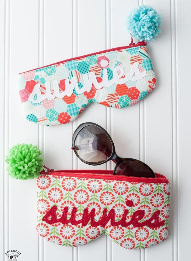 DIY Ideas for Summer - DIY Sunglasses Case Tutorial - How to Make A Sunglasses Case - Cute Summery Crafts to Make and Sell - DIY Summer Crafts, Projects, Decor for Kids, Tweens, Teens, Adults, Seniors - Ideas to Make for Lake, Pool, Outdoors - Creative Things to Make for Summertime - Teen Crafts and DIY Projects #teencrafts #diyideas #craftideasforsummer