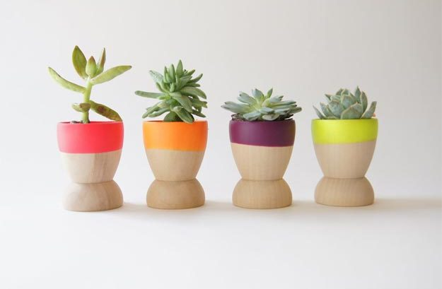 Easy Nail Polish Crafts - DIY Color Dipped Wooden Planters Tutorial - Cute DIY Planters - Easy Craft Projects With Nail Polish - Cheap Do It Yourself Gifts, Fun and Quick Art Ideas To Make for Free - Keys, Phone Case, Paintings, Jewelry, Shoes, Clothing, Accessories and Bedroom Decor Ideas - Creative Things for Teens To Make, Teenagers and Tweens - Cute Dorm Room Decor, Things To Make When You Are Bored #teencrafts #diyideas #cheapcrafts