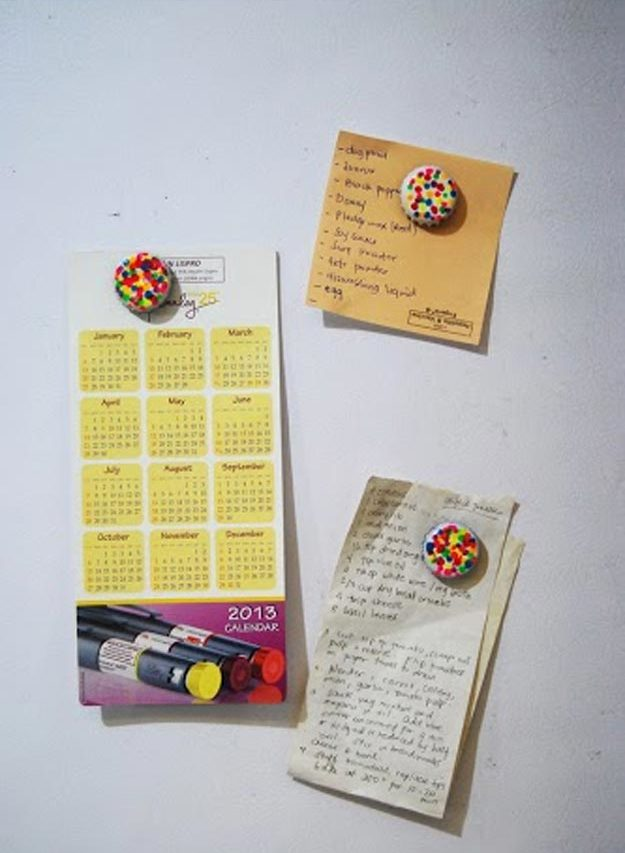 Easy Nail Polish Crafts - DIY Bottle Cap Magnets Tutorial - How to Make Bottle Cap Magnets - Easy Craft Projects With Nail Polish - Cheap Do It Yourself Gifts, Fun and Quick Art Ideas To Make for Free - Keys, Phone Case, Paintings, Jewelry, Shoes, Clothing, Accessories and Bedroom Decor Ideas - Creative Things for Teens To Make, Teenagers and Tweens - Cute Dorm Room Decor, Things To Make When You Are Bored #teencrafts #diyideas #cheapcrafts