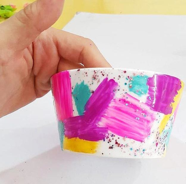 Easy Nail Polish Crafts - DIY Confetti Colored Bowl Tutorial - How to Make a Confetti Colored Bowl - Easy Craft Projects With Nail Polish - Cheap Do It Yourself Gifts, Fun and Quick Art Ideas To Make for Free - Keys, Phone Case, Paintings, Jewelry, Shoes, Clothing, Accessories and Bedroom Decor Ideas - Creative Things for Teens To Make, Teenagers and Tweens - Cute Dorm Room Decor, Things To Make When You Are Bored #teencrafts #diyideas #cheapcrafts