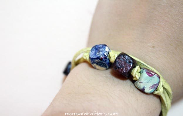 Easy Nail Polish Crafts - DIY Faux Gemstone Wrap Bracelet Tutorial - How to Make A Faux Gemstone Wrap Bracelet - Easy Craft Projects With Nail Polish - Cheap Do It Yourself Gifts, Fun and Quick Art Ideas To Make for Free - Keys, Phone Case, Paintings, Jewelry, Shoes, Clothing, Accessories and Bedroom Decor Ideas - Creative Things for Teens To Make, Teenagers and Tweens - Cute Dorm Room Decor, Things To Make When You Are Bored #teencrafts #diyideas #cheapcrafts