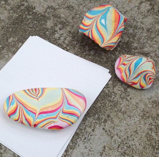 Easy Nail Polish Crafts - DIY Marbled Paperweight Tutorial - How to Make A Marbled Paperweight - Easy Craft Projects With Nail Polish - Cheap Do It Yourself Gifts, Fun and Quick Art Ideas To Make for Free - Keys, Phone Case, Paintings, Jewelry, Shoes, Clothing, Accessories and Bedroom Decor Ideas - Creative Things for Teens To Make, Teenagers and Tweens - Cute Dorm Room Decor, Things To Make When You Are Bored #teencrafts #diyideas #cheapcrafts