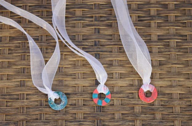Easy Nail Polish Crafts - DIY Painted Washer Jewelry Tutorial - How to Make Painted Washer Jewelry - Easy Craft Projects With Nail Polish - Cheap Do It Yourself Gifts, Fun and Quick Art Ideas To Make for Free - Keys, Phone Case, Paintings, Jewelry, Shoes, Clothing, Accessories and Bedroom Decor Ideas - Creative Things for Teens To Make, Teenagers and Tweens - Cute Dorm Room Decor, Things To Make When You Are Bored #teencrafts #diyideas #cheapcrafts