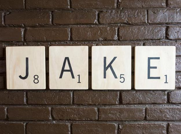 Cool Wall Art Ideas for Teens - DIY Scrabble Letter Wall Art Tutorial - Cheap and Easy DIY Canvas Projects, Paintings and Arts and Crafts for Bedroom Walls - Inexpensive, Quick Project Tutorials for String Art, Crayon, Yarn, Paint Chip, Boho, Simple and Modern Decor for Teens, Teenagers and Tweens - Colorful and Creative Paint, Glue and Mod Podge Craft Idea #teencrafts #diyideas #roomdecor