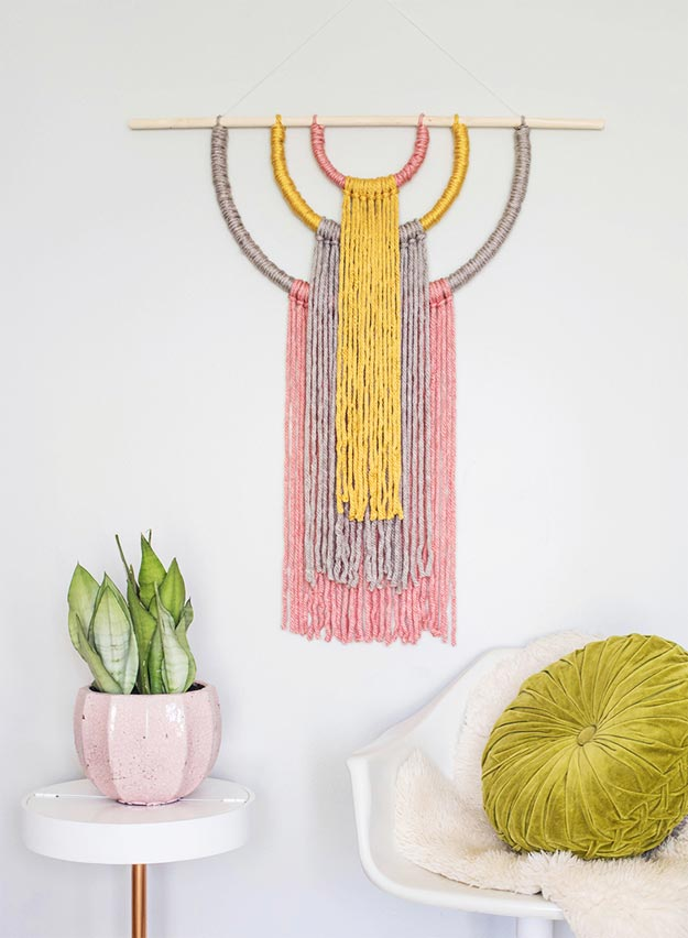 Cool Wall Art Ideas for Teens - DIY Statement Wall Hanging Tutorial - Cheap and Easy DIY Canvas Projects, Paintings and Arts and Crafts for Bedroom Walls - Inexpensive, Quick Project Tutorials for String Art, Crayon, Yarn, Paint Chip, Boho, Simple and Modern Decor for Teens, Teenagers and Tweens - Colorful and Creative Paint, Glue and Mod Podge Craft Idea #teencrafts #diyideas #roomdecor
