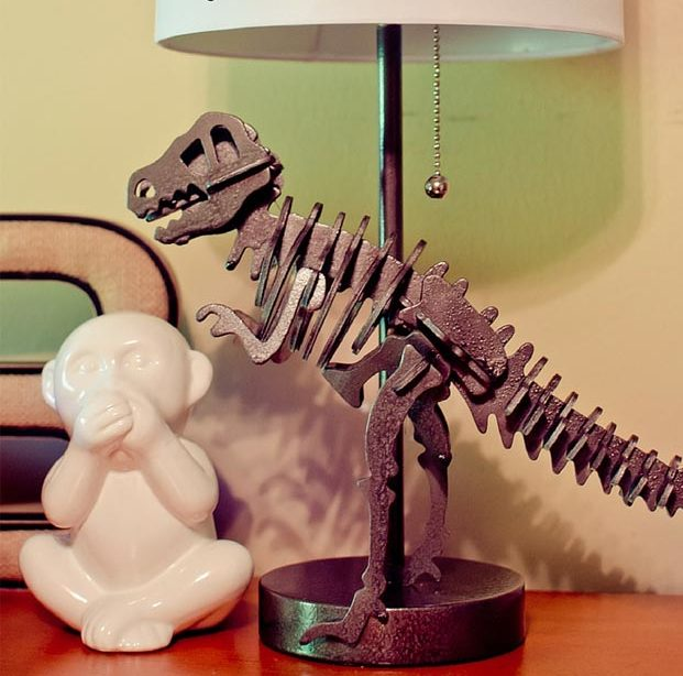 Dollar Store Crafts - DIY Dinosaur Lamp Tutorial - How to Make A Dinosaur Lamp - Easy DIY Dollar Tree Crafts - Cheap DIY Projects for Teenagers, Room, Decor, and Gifts - Dollar Tree Crafts to Make and Sell, at Home - Handmade Craft Ideas to Sell with Instructions and Tutorials - Easy Teen Crafts #teencrafts #diyideas #dollarstorecrafts
