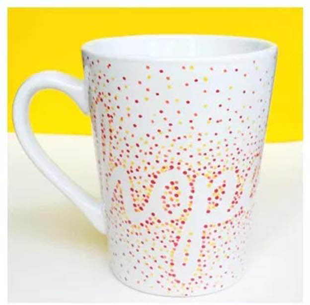 Dollar Store Crafts - DIY Dotted Sharpie Mugs Tutorial - How to Make Dotted Sharpie Mugs - Easy DIY Dollar Tree Crafts - Cheap DIY Projects for Teenagers, Room, Decor, and Gifts - Dollar Tree Crafts to Make and Sell, at Home - Handmade Craft Ideas to Sell with Instructions and Tutorials - Easy Teen Crafts #teencrafts #diyideas #dollarstorecrafts