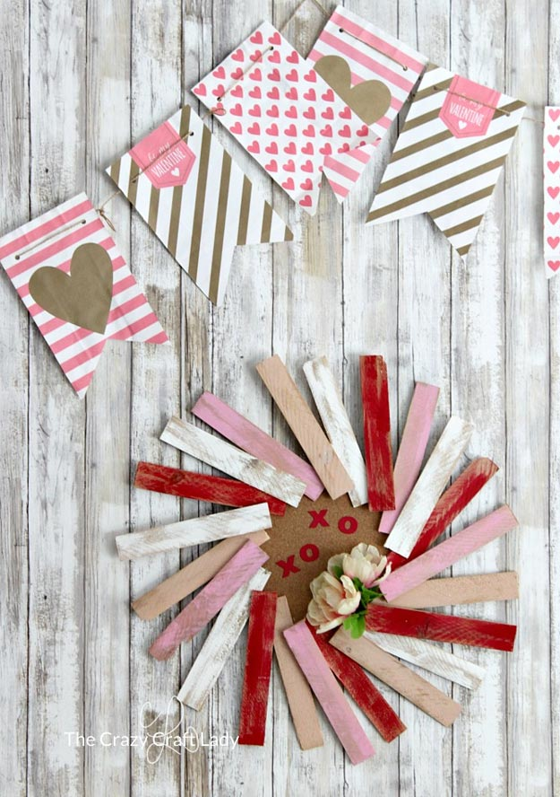Dollar Store Crafts - DIY Dollar Store Valentine Banner Tutorial - How to Make A Valentine Banner - Easy DIY Dollar Tree Crafts - Cheap DIY Projects for Teenagers, Room, Decor, and Gifts - Dollar Tree Crafts to Make and Sell, at Home - Handmade Craft Ideas to Sell with Instructions and Tutorials - Easy Teen Crafts #teencrafts #diyideas #dollarstorecrafts