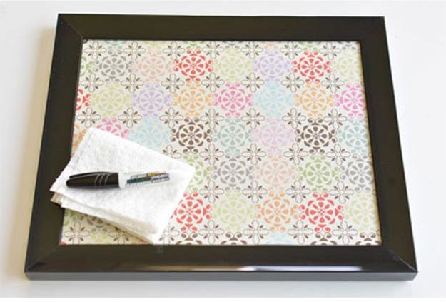Dollar Store Crafts - DIY 5-Minute Dry Erase Board Tutorial - How to Make A Dry Erase Board - Easy DIY Dollar Tree Crafts - Cheap DIY Projects for Teenagers, Room, Decor, and Gifts - Dollar Tree Crafts to Make and Sell, at Home - Handmade Craft Ideas to Sell with Instructions and Tutorials - Easy Teen Crafts #teencrafts #diyideas #dollarstorecrafts